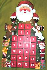 Adventskalender Nikobaum Weihnachten mit 24 Schubladen ca. 48cm Holz