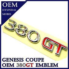 Hyundai Genesis Coupe OEM Trunk Rear 380GT Emblem Badge 2010 2011 2012 2013