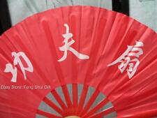 Oriental Chinese Kung Fu/Tai Chi/Dance/Practice Performance Folding Hand Fan RED