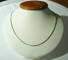 """14K Solid Yellow Gold BOX CHAIN 21"""" W/Spring Ring Clasp MADE IN ITALY N124-Z"""