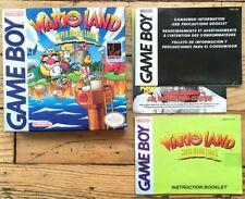 EMPTY BOX + BOOKLET WARIO LAND SUPER MARIO 3 GAMEBOY FAT NTSC US BOÎTE + NOTICE