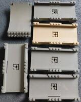 Lego DARK GRAY ROAD TRACK 16x8x2 LOT of 6 SKATEBOARD RAMP STUNT RACERS SPORTS