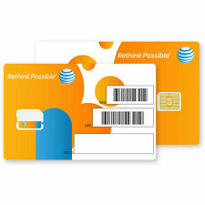 At&T Nano Cut Sim Card 3G/4G/5G Lte Go Phone Ready To Activate On At&T