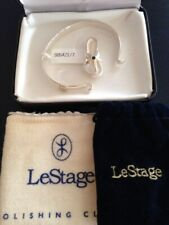 "LeStage Convertible 7"" wide BRACELET & CLASP (Flipflop)  sterling silver NEW"