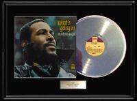 MARVIN GAYE WHAT'S GOING ON  FRAMED LP WHITE GOLD PLATINUM TONE VINYL RECORD