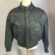 ViNtAgE 70s 80s MeNs Leather Members Cafe Racer Motorcycle Bomber CoAt JaCkEt L