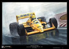 Ayrton Senna Camel Lotus Limited Edition F1 Art Print Large A2 Size