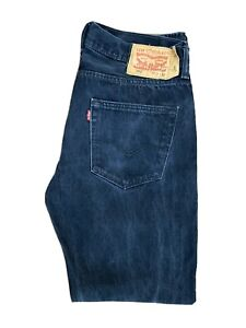 Original Levi's 501® Classic Straight Leg Black Denim Jeans W33 L32 ES 8221
