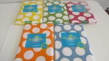 Polka Dots Vinyl Tablecloth Green Yellow Blue Dark Pink Orange UPick 4 Sizes NEW