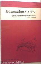 EDUCAZIONE E TV 1963 Diastole fantascienza Istruzione popolare Radio Teatro di e