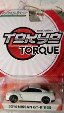 GREENLIGHT 1/64 TOKYO TORQUE Series 1 2014 NISSAN GT-R R35 white NEW
