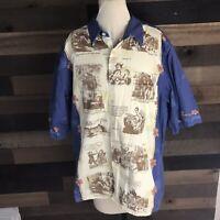 Trader Joes Vintage Hawaiian Shirt 2005 Mens Size Xl