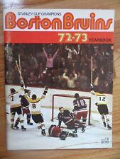 1972-73 Boston Bruins Yearbook  PHIL ESPOSITO Ken Hodge WAYNE CASHMAN Booby Orr