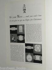 1929 Elgin Watch ad, Wristwatch, table clocks etc
