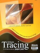 """Premium Quality Tracing Paper Pad 9"""" x 12"""" 30ct Preliminary Sketch Book by Bazic"""