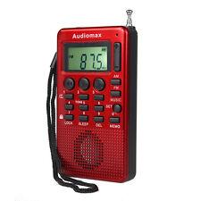 New FM AM Radio MP3 Music Player USB Speaker w/ Alarm Clock Sleep timer ONE/ALL