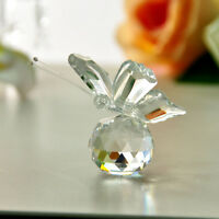 Wholesale Clear Butterfly Crystal Paperweight Figurine Glass Wedding Lady Gift