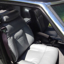 1979-1983 Datsun 280ZX Replacement Leather Light Grey & Black Seat Cover