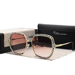 Luxury Rhinestone Square Sunglasses Women Fashion Outdoor Oversized Shades UV400