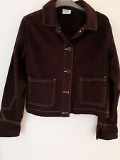 Nwot BDG urban Outfitters xs Marroon Oversized Demin 3/4 Jacket 8/10