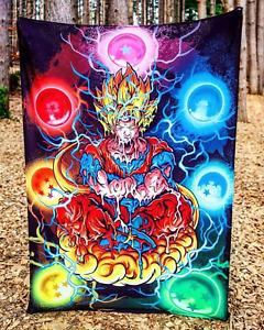 Goku Dragon Ball Z Trippy Anime Wall Art Abstract Home Decor Hanging Tapestry