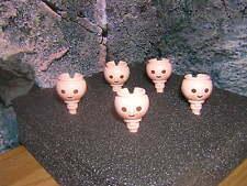 (a 9/8) 5 x cabezas con pecas romanos caballero garde soldados ACW Western
