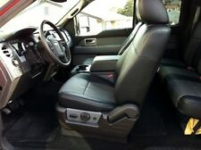 Clazzio Leather Custom Black Seat Covers for Ford F150 Supercrew 2013-2014