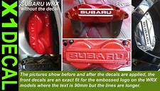 Subaru Impreza WRX rally Brake caliper decal fit front WRX x1 purchase or more