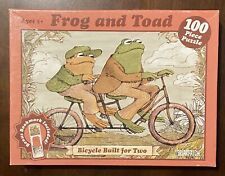 "Briarpatch Frog and Toad ""Bicycle Built for Two"" 100pc Jigsaw Puzzle / OPEN BOX"