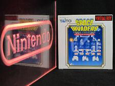 Nintendo Virtual Boy Space Invaders NIB New in Original Box Near-Mint Complete