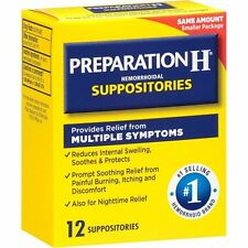 Preparation H Hemorrhoidal Suppositories, 12ct