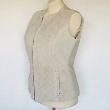 Terry Lewis New Womens Jacket Vest Coat Genuine Leather Quilted Washable Sz XS