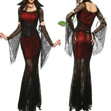 Halloween Women Costume Vampire Dress Medieval Fancy Dress Gothic Outfit Queen