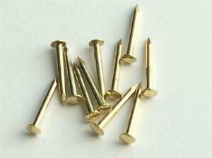 ESCUTCHEON BRASSED PINS TACKS NAILS BRADS 20MM CRAFTS  GOLD COLOUR CRAFTS
