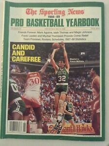 The Sporting News Magazine Kevin McHale Mark Aguirre 1988-89 050719nonrh