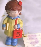 AMERICAN GREETINGS Raincoat Girl 5 Figurine Decor Birthday Cake Topper Gift