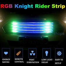 "24"" RGB LED Knight Rider Strip Light Under Hood Behind Grille For Mitsubishi"