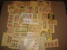 Slot Machine Payout Award Cards