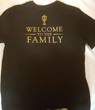 Nike Air Jordan Trophy Room 5/23 Welcome to the Family Black T-Shirt  SZ L RARE