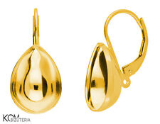Leverback earring for Swarovski 4320 14 mm kz 88 - gold-plated silver (1 pair)