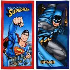 EXTRA LARGE New Superman or Batman Beach Bath Towels Boys Children Kids Holiday