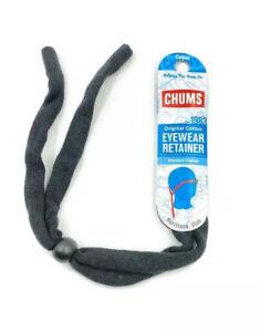 Chums Original Cotton Eyewear Retainer Black Adjustable Sunglasses Lanyard Strap