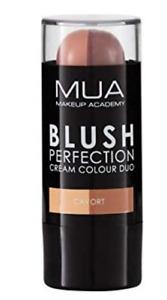 MUA BLUSH PERFECTION CREAM COLOUR DUO SHADE CAVORT NEW