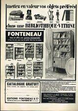 I- Publicité Advertising 1971 Meubles Bibliothèques Fonteneau