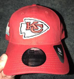 NWT Kansas City Chiefs New Era 9TWENTY Adjustable Strapback Hat. Super Bowl LIV