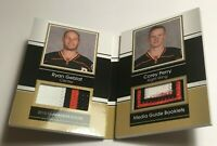 Ryan Getzlaf Corey Perry /15 made Media Guide Jersey Insert Parallel Hockey Card