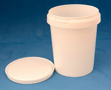 20 x 520ml White Plastic Tamper Proof Tubs/Containers with Lids