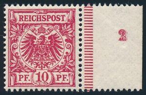 D.Reich Nr. 47 db mit Formnummer 2 postfrisch/**, geprüft Jäschke-L. BPP (66529)
