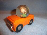 RARE Hallmark Peanuts Peppermint Patty Car Water Snow Globe Collection