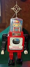 Vintage Cragstan Great Astronaut Electric Tin Toy Retro SF Robot From Japan